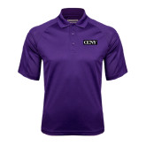 Purple Textured Saddle Shoulder Polo-CCNY