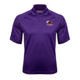 Purple Textured Saddle Shoulder Polo-CCNY Beavers