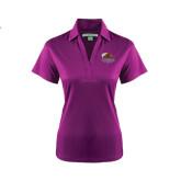 Ladies Purple Performance Fine Jacquard Polo-CCNY Beavers
