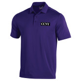 Under Armour Purple Performance Polo-CCNY