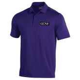 Under Armour Purple Performance Polo-CCNY