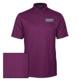Purple Performance Fine Jacquard Polo-Official Logo