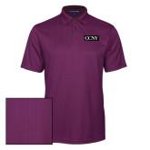 Purple Performance Fine Jacquard Polo-CCNY