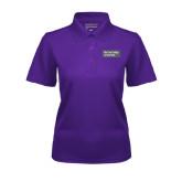 Ladies Purple Dry Mesh Polo-Official Logo