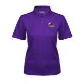 Ladies Purple Dry Mesh Polo-CCNY Beavers