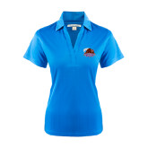 Ladies Light Blue Performance Fine Jacquard Polo-CCNY Beavers