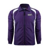 Colorblock Purple/White Wind Jacket-Official Logo