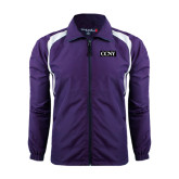 Colorblock Purple/White Wind Jacket-CCNY