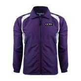 Colorblock Purple/White Wind Jacket-CCNY