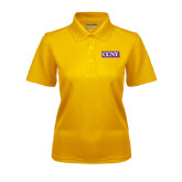 Ladies Gold Dry Mesh Polo-CCNY
