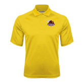 Gold Textured Saddle Shoulder Polo-CCNY Beavers
