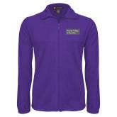 Fleece Full Zip Purple Jacket-Official Logo