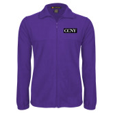 Fleece Full Zip Purple Jacket-CCNY
