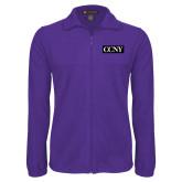 Fleece Full Zip Purple Jacket-CCNY