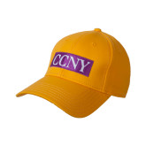 Gold Heavyweight Twill Pro Style Hat-CCNY