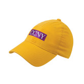 Gold Flexfit Mid Profile Hat-CCNY