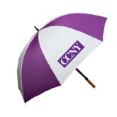 64 Inch Purple/White Umbrella-CCNY