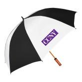 62 Inch Black/White Umbrella-CCNY
