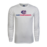 White Long Sleeve T Shirt-CUNY Championships