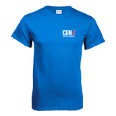CUNY Athletics Royal T Shirt-Official Logo