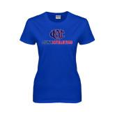 CUNY Athletics Ladies Royal T Shirt-CUNY Athletics