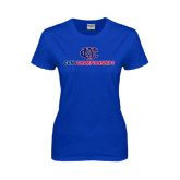 CUNY Athletics Ladies Royal T Shirt-CUNY Championships