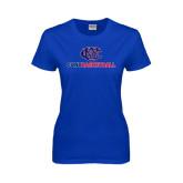CUNY Athletics Ladies Royal T Shirt-CUNY Basketball