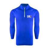 CUNY Athletics Under Armour Royal Tech 1/4 Zip Performance Shirt-Official Logo