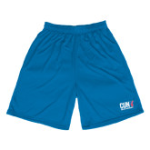 CUNY Athletics Performance Classic Royal 9 Inch Short-Official Logo