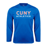 CUNY Athletics Performance Royal Longsleeve Shirt-CUNY Athletics