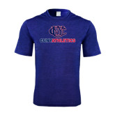 Performance Royal Heather Contender Tee-CUNY Athletics