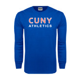 Royal Long Sleeve T Shirt-CUNY Athletics
