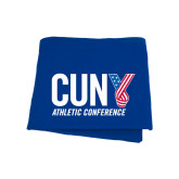 CUNY Athletics Royal Sweatshirt Blanket-Official Logo