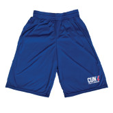 CUNY Athletics Russell Performance Royal 10 Inch Short w/Pockets-Official Logo