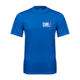 CUNY Athletics Performance Royal Tee-Official Logo