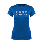 Ladies Syntrel Performance Royal Tee-CUNY Athletics