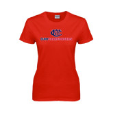 CUNY Athletics Ladies Red T Shirt-CUNY Championships