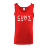 Red Tank Top-CUNY Athletics