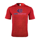 Performance Red Heather Contender Tee-CUNY Champions