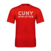 CUNY Athletics Performance Red Tee-CUNY Athletics