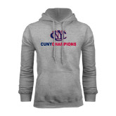 CUNY Athletics Grey Fleece Hoodie-CUNY Champions