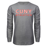 Grey Long Sleeve T Shirt-CUNY Athletics
