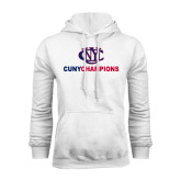 CUNY Athletics White Fleece Hoodie-CUNY Champions