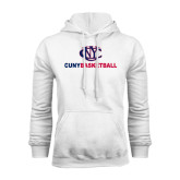 CUNY Athletics White Fleece Hoodie-CUNY Basketball
