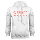 CUNY Athletics White Fleece Hoodie-CUNY Athletics