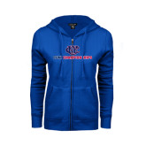 CUNY Athletics ENZA Ladies Royal Fleece Full Zip Hoodie-CUNY Championships