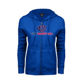 CUNY Athletics ENZA Ladies Royal Fleece Full Zip Hoodie-CUNY Basketball