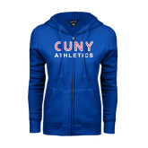 CUNY Athletics ENZA Ladies Royal Fleece Full Zip Hoodie-CUNY Athletics