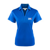 CUNY Athletics Ladies Royal Performance Fine Jacquard Polo-Official Logo