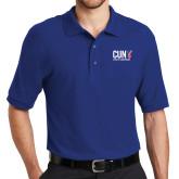 CUNY Athletics Royal Easycare Pique Polo-Official Logo